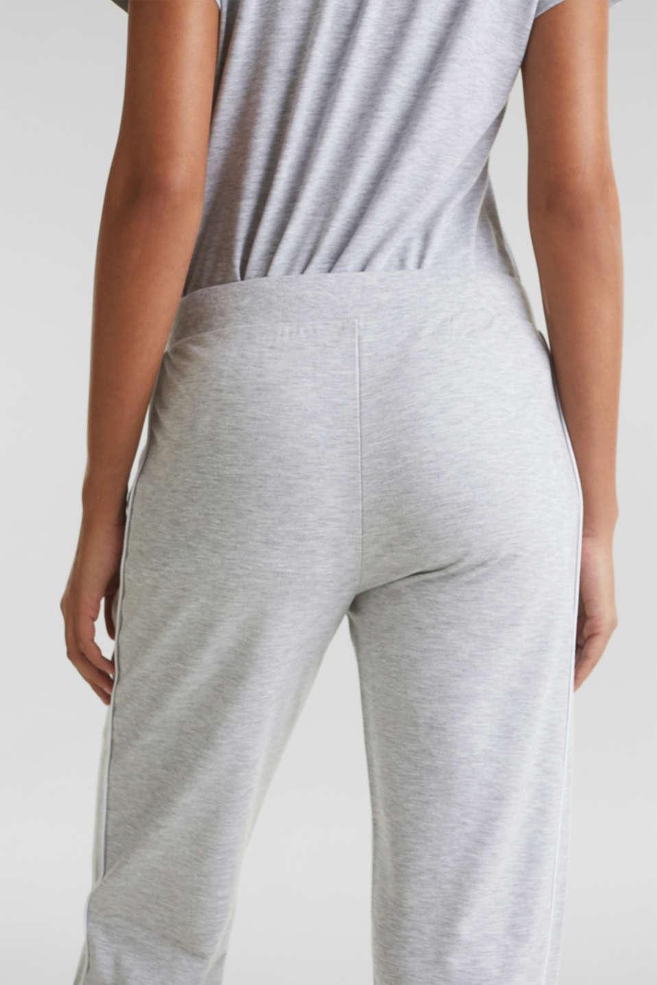 Melange stretch jersey trousers, MEDIUM GREY, detail image number 5