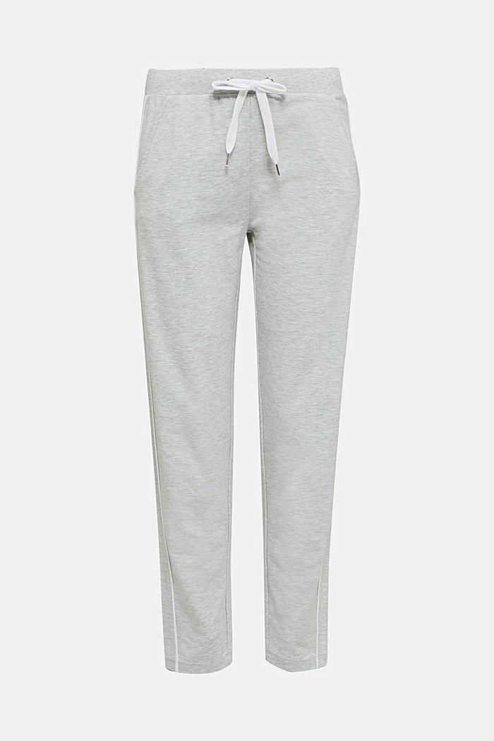Melange stretch jersey trousers