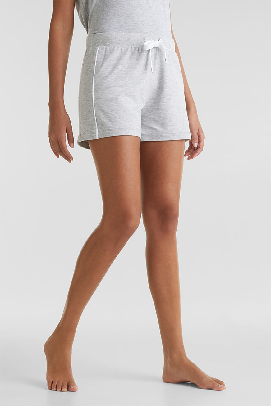 Melierte Jersey-Stretch-Shorts