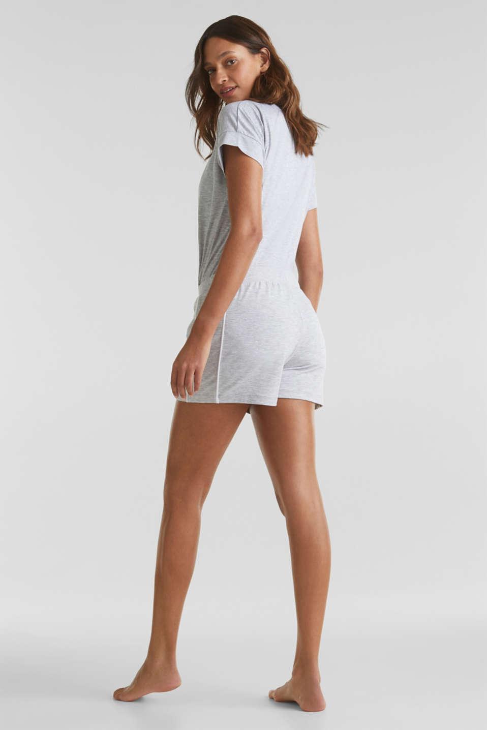 Melange stretch jersey shorts, MEDIUM GREY, detail image number 3