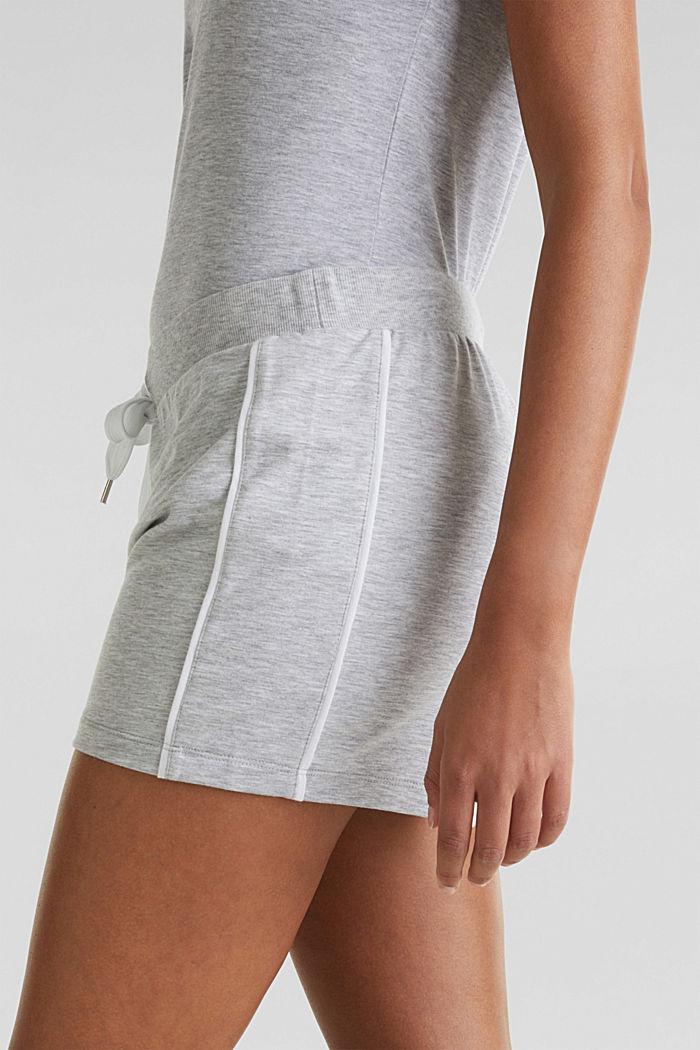 Shorts in jersey melangiato e elasticizzato, MEDIUM GREY, detail image number 5