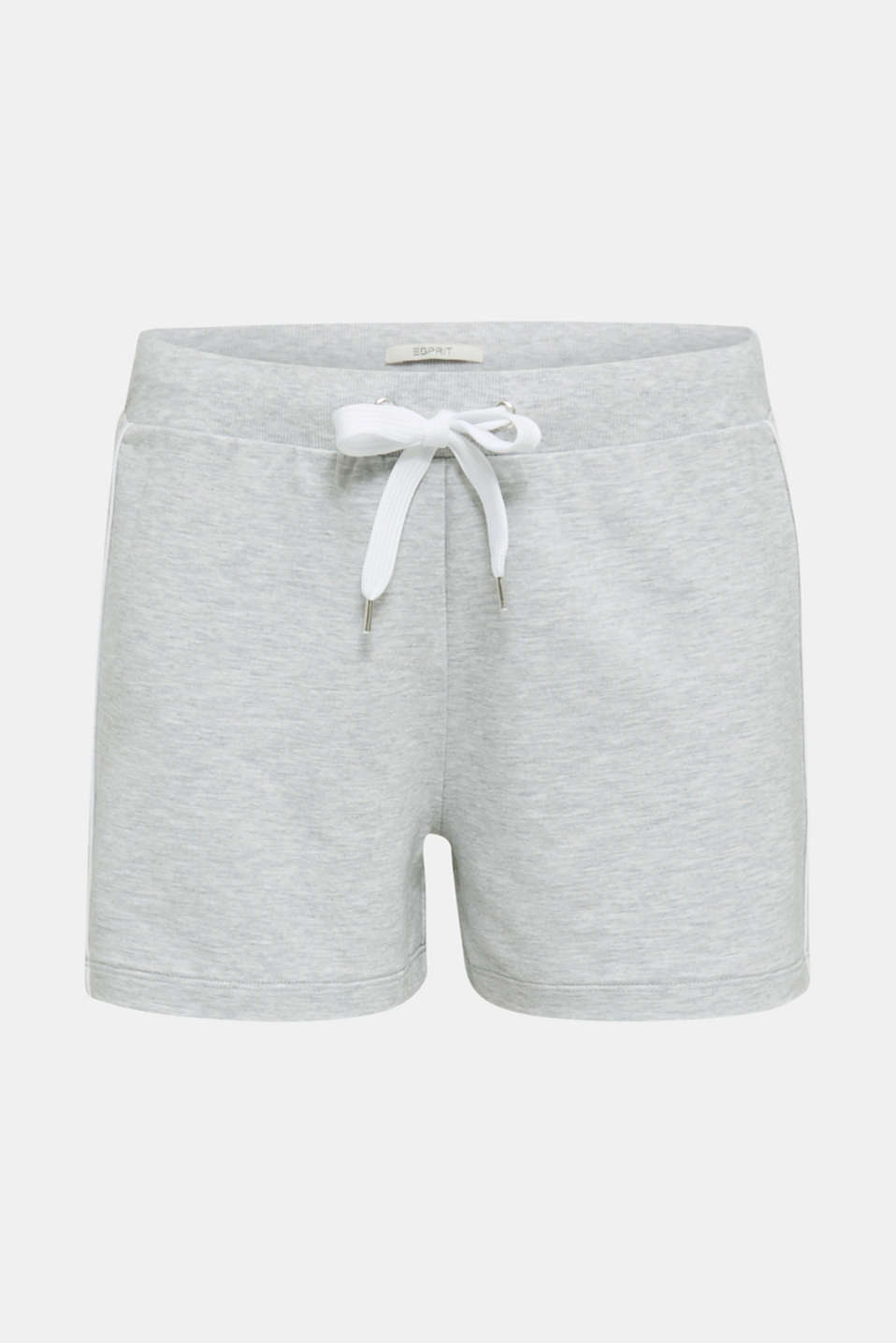 Melange stretch jersey shorts, MEDIUM GREY, detail image number 6