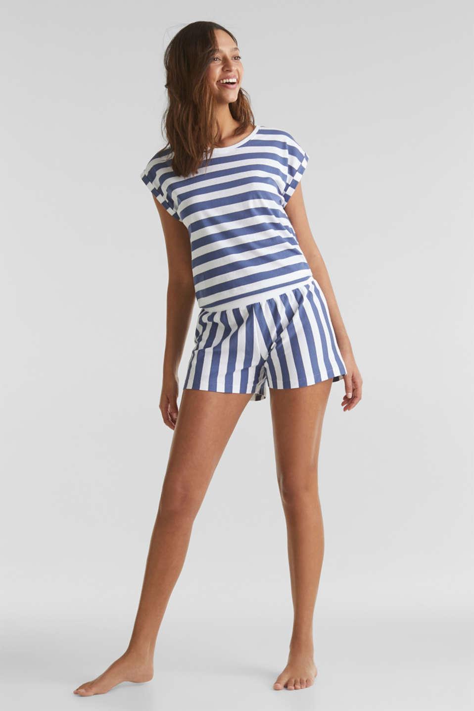 Jersey pyjamas in 100% cotton, WHITE, detail image number 0