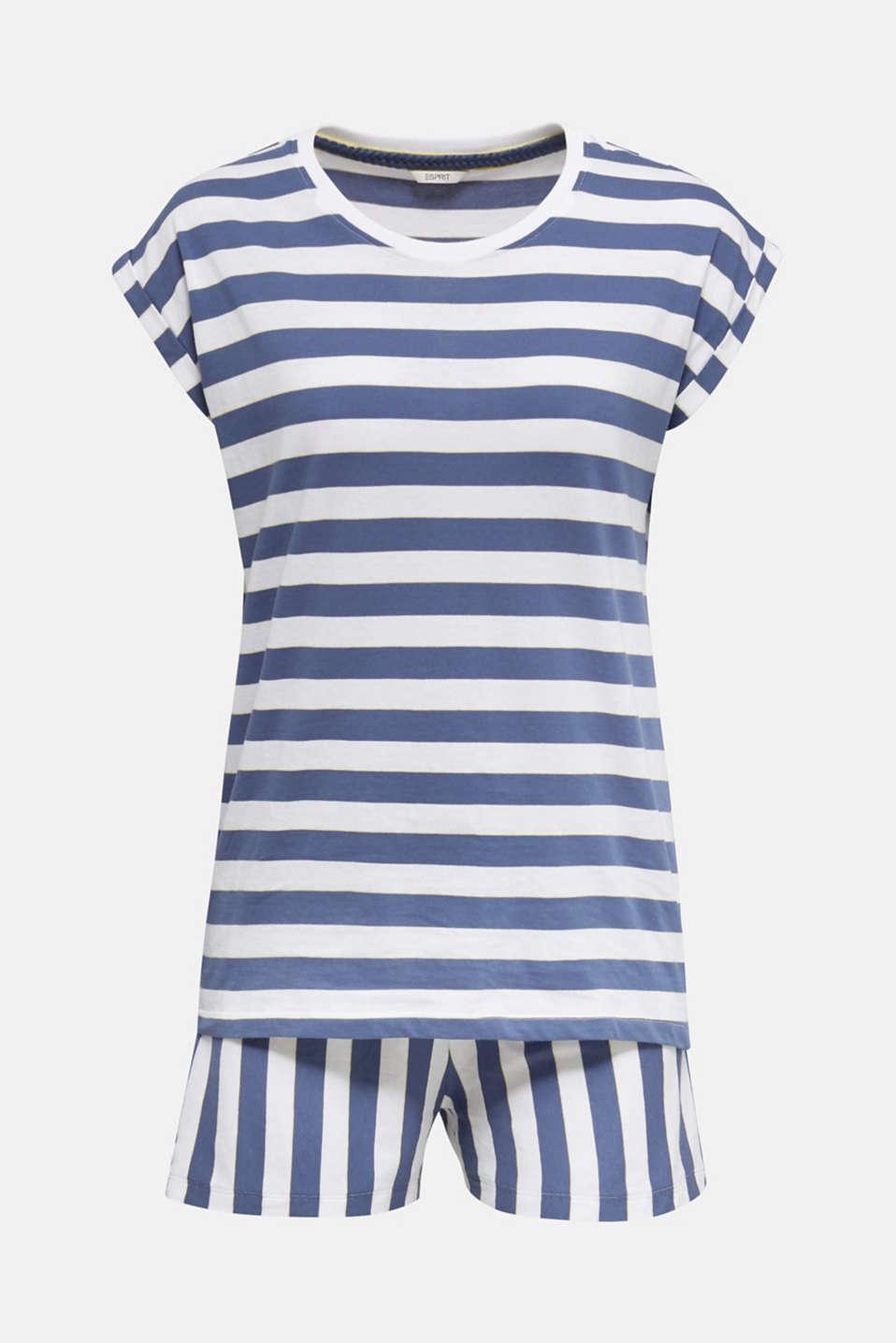 Jersey pyjamas in 100% cotton, WHITE, detail image number 7