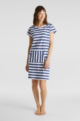 Jersey nightshirt, 100% cotton, WHITE, detail