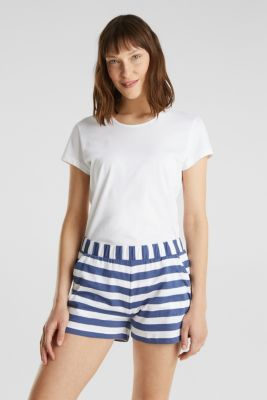 Jersey shorts in 100% cotton, WHITE, detail