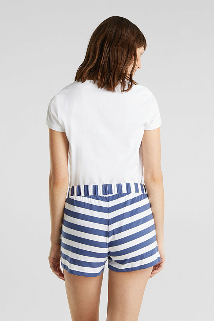 Jerseyshorts i 100 % bomuld, WHITE, detail image number 2