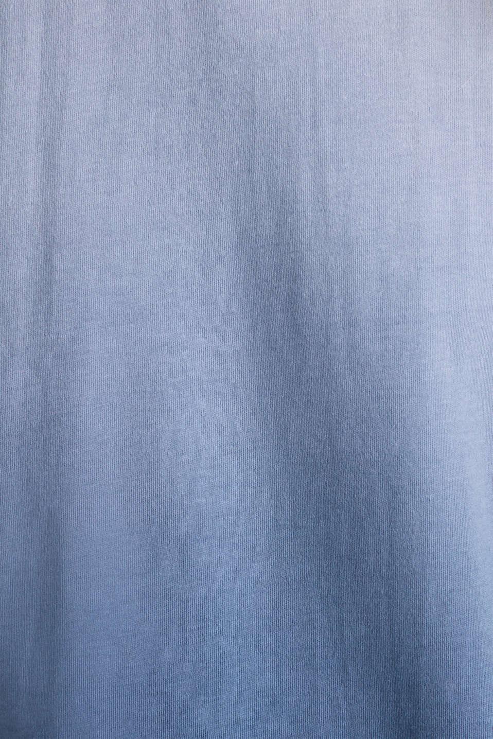 Dip-dye top, 100% cotton, BLUE LAVENDER, detail image number 4