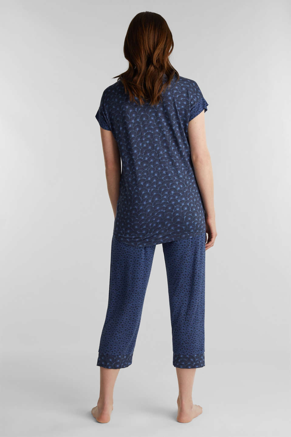 Stretch jersey pyjamas with print , BLUE LAVENDER, detail image number 1