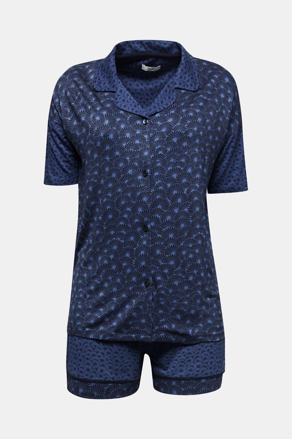 Pyjamas made of stretch jersey, BLUE LAVENDER, detail image number 6