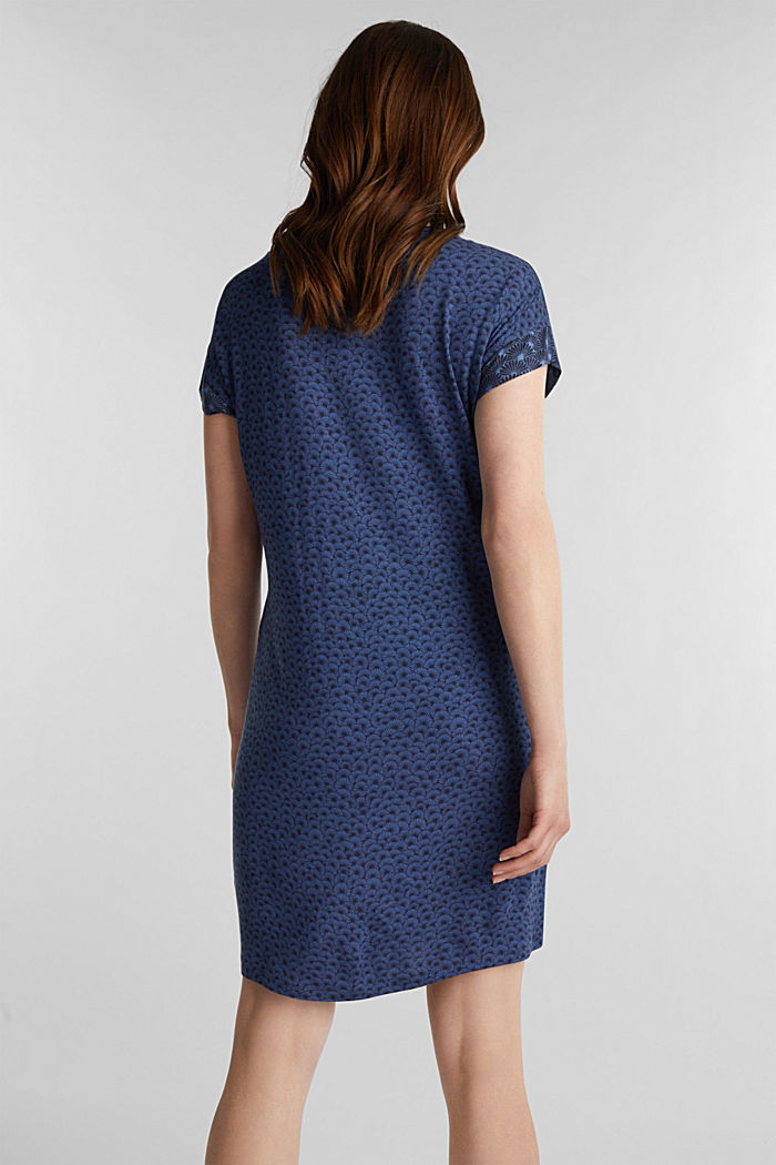 Stretch jersey nightshirt with a print, BLUE LAVENDER, detail image number 1
