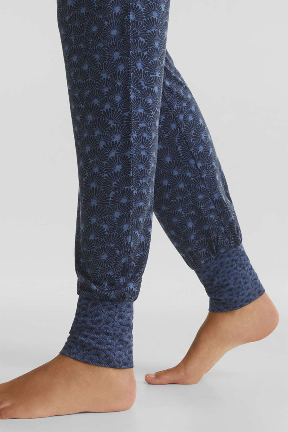 Stretch jersey trousers with print, BLUE LAVENDER, detail image number 5