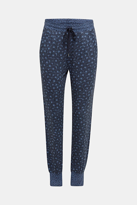 Stretch jersey trousers with print