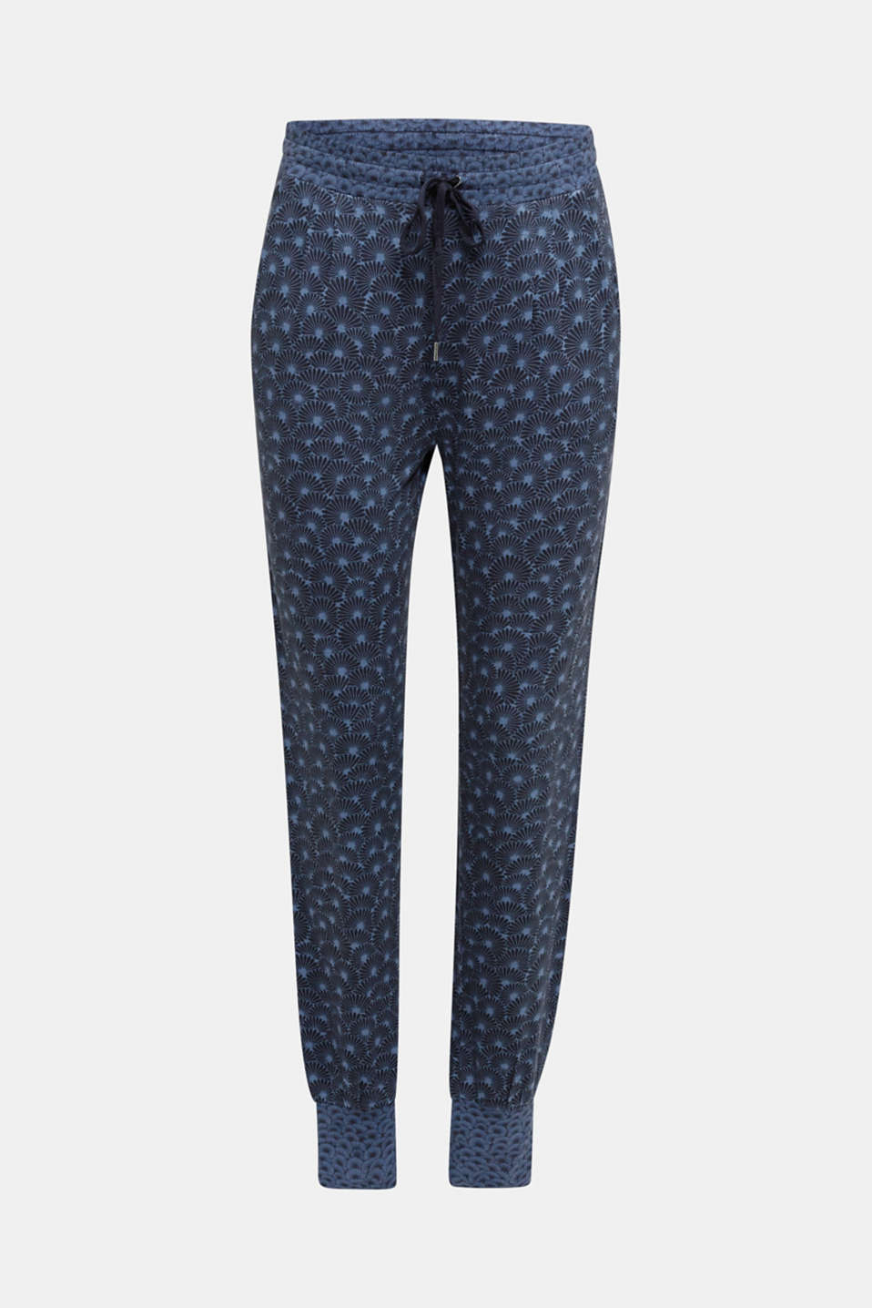 Stretch jersey trousers with print, BLUE LAVENDER, detail image number 6