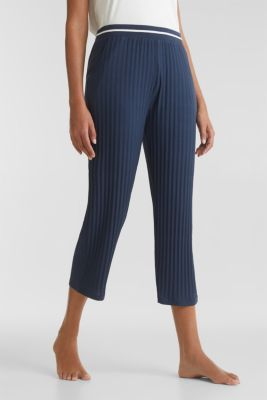 Stretch jersey trousers with a ribbed texture, NAVY 2, detail