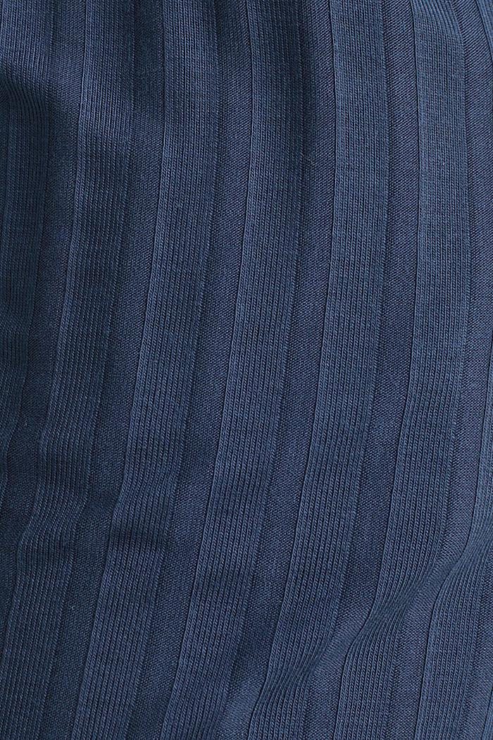 Jersey stretchbroek met ribstructuur, NAVY, detail image number 3
