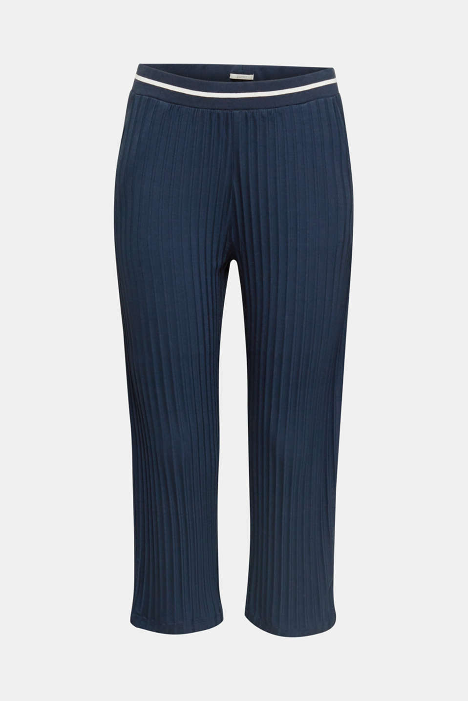 Stretch jersey trousers with a ribbed texture, NAVY 2, detail image number 5