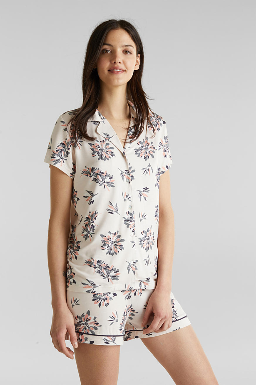 Stretch jersey pyjamas with print
