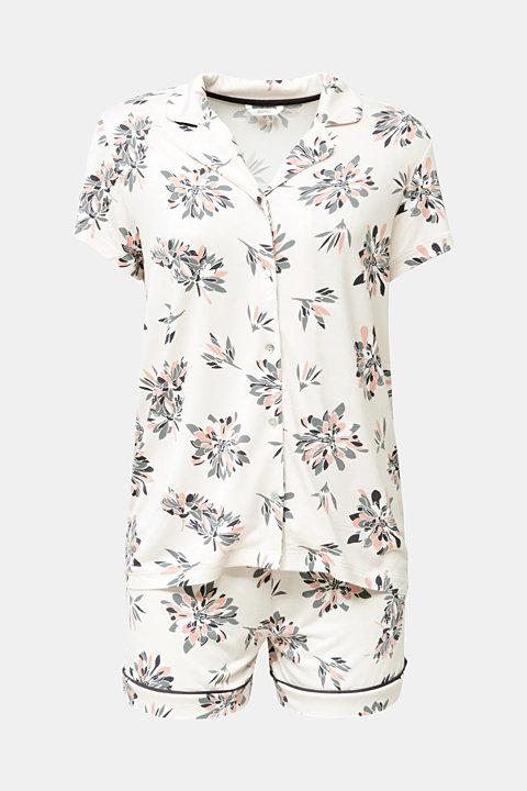 Stretch jersey pyjamas with print