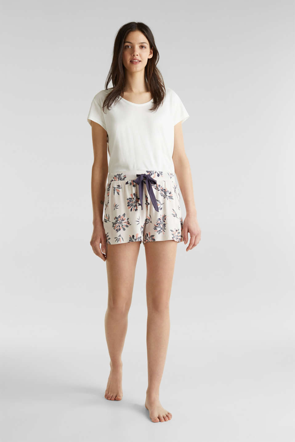 Stretch jersey shorts with print, ICE, detail image number 1