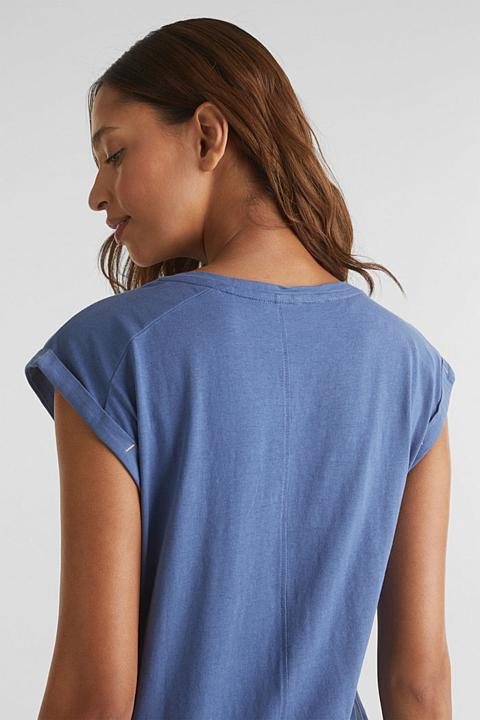T-shirt with a print, 100% cotton, BLUE LAVENDER, detail image number 4