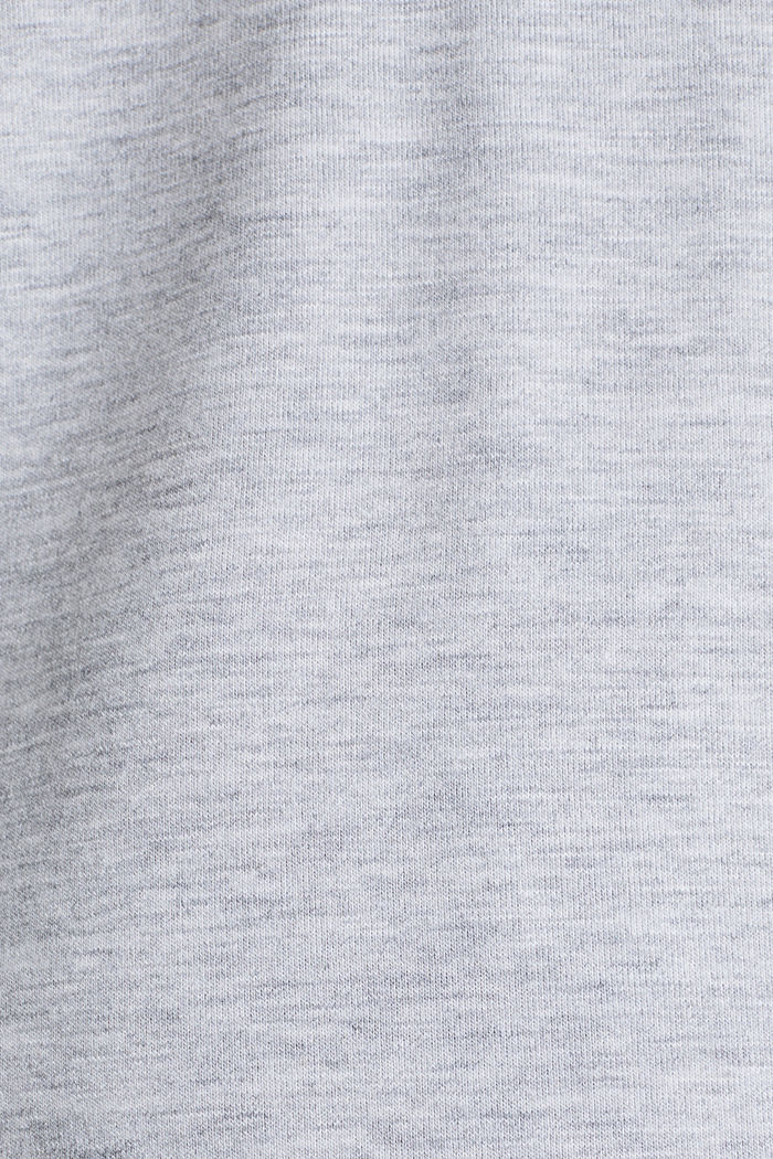Melange stretch jersey top, MEDIUM GREY, detail image number 4