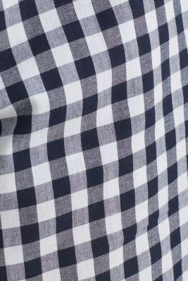 Woven pyjamas with checks, 100% cotton, NAVY 2, detail