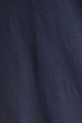 Jersey nightshirt with layering, 100% cotton, NAVY 2, detail