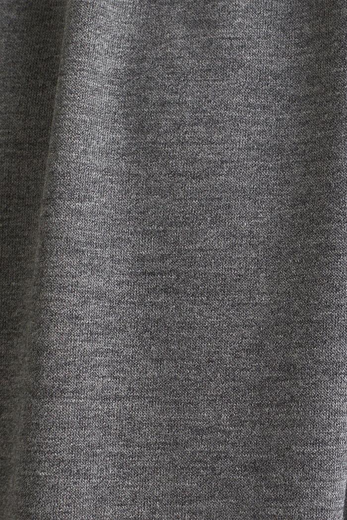 Camisón de jersey elástico con encaje, ANTHRACITE, detail image number 4