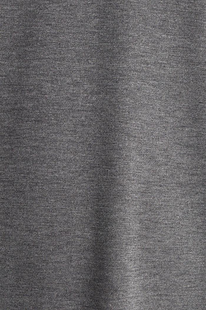 Chemise de nuit en jersey stretch et dentelle, ANTHRACITE, detail image number 4