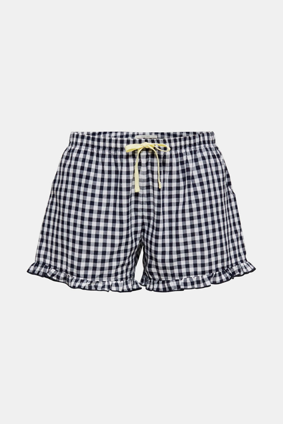Woven shorts with frills, 100% cotton, NAVY 2, detail image number 4