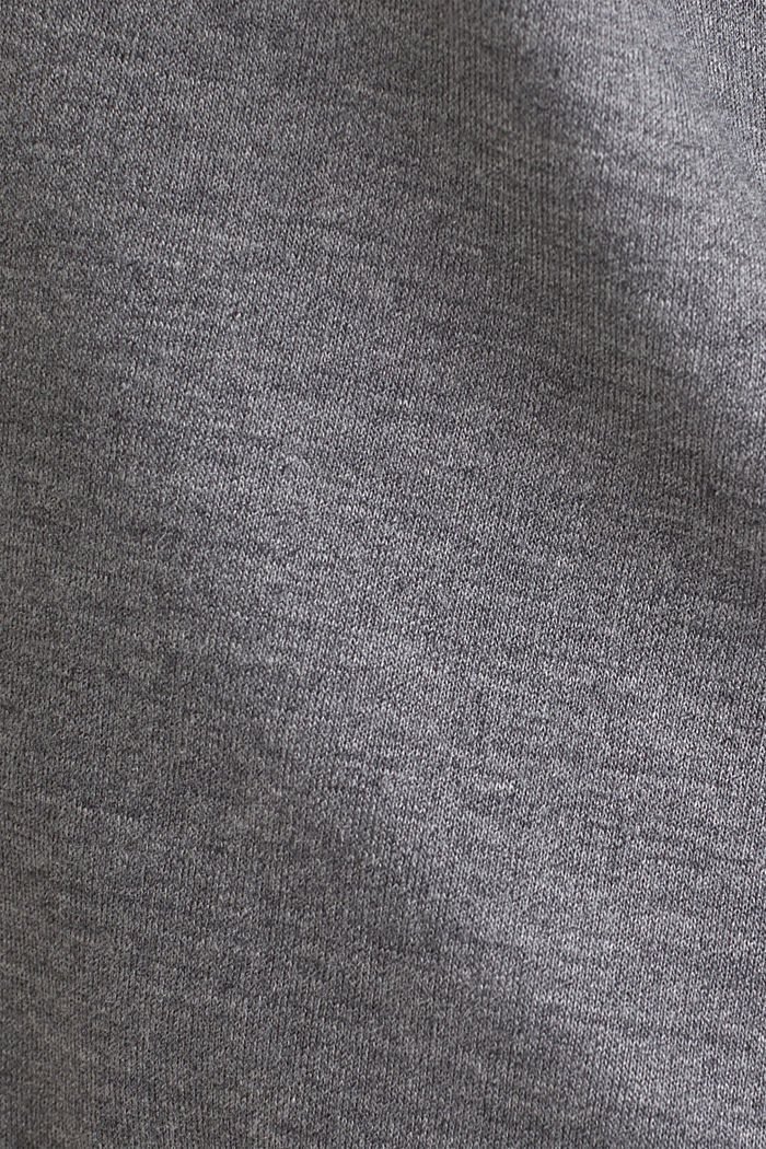 Jersey-Stretch-Shorts mit Spitze, ANTHRACITE, detail image number 4