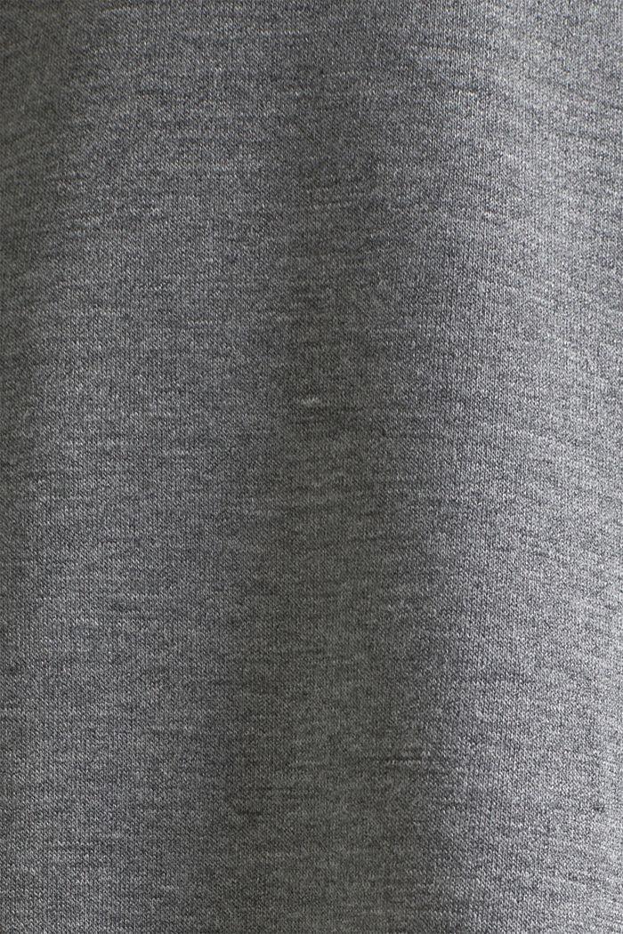 Camiseta jaspeada con bajo de encaje, ANTHRACITE, detail image number 4