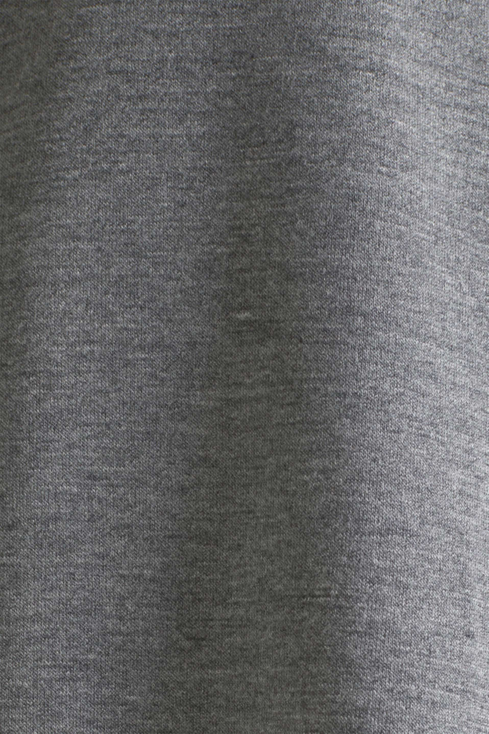 Melange top with a lace hem, ANTHRACITE 2, detail image number 4