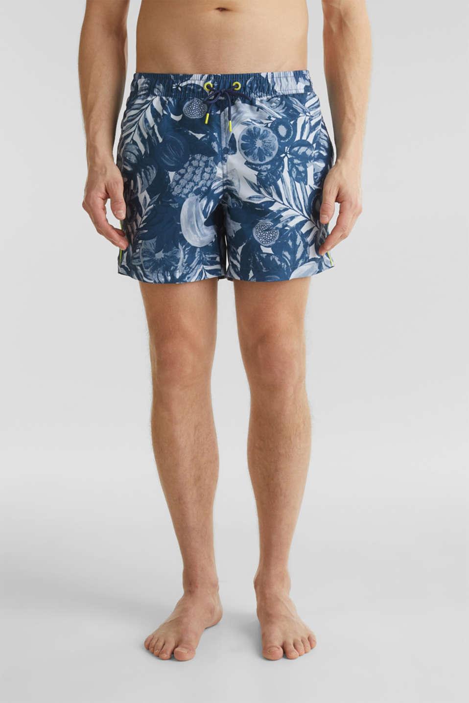 Fruit print swim shorts, NAVY 2, detail image number 0