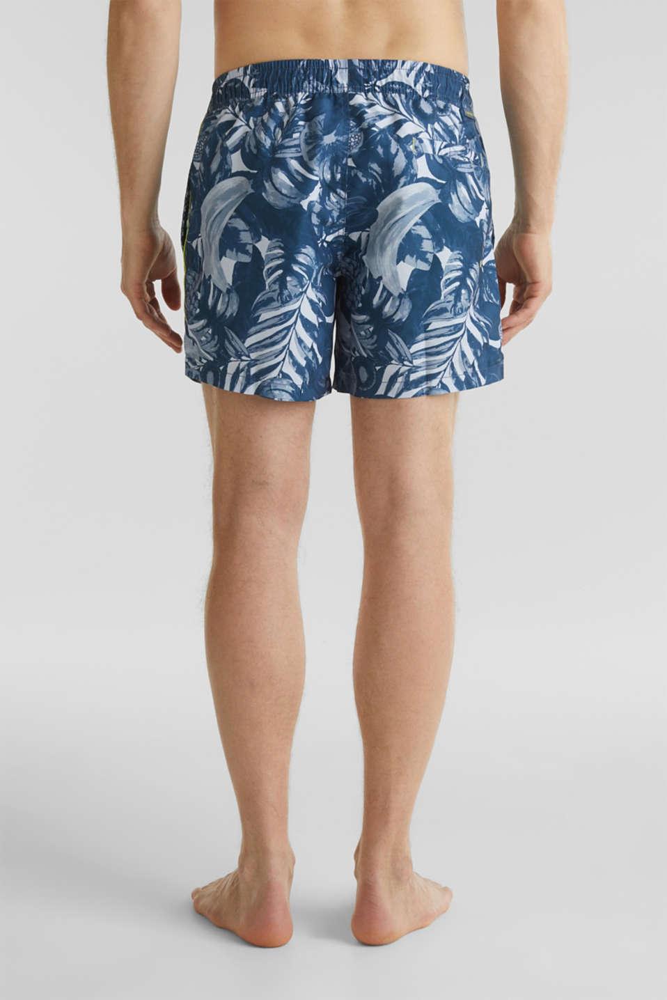 Fruit print swim shorts, NAVY 2, detail image number 1