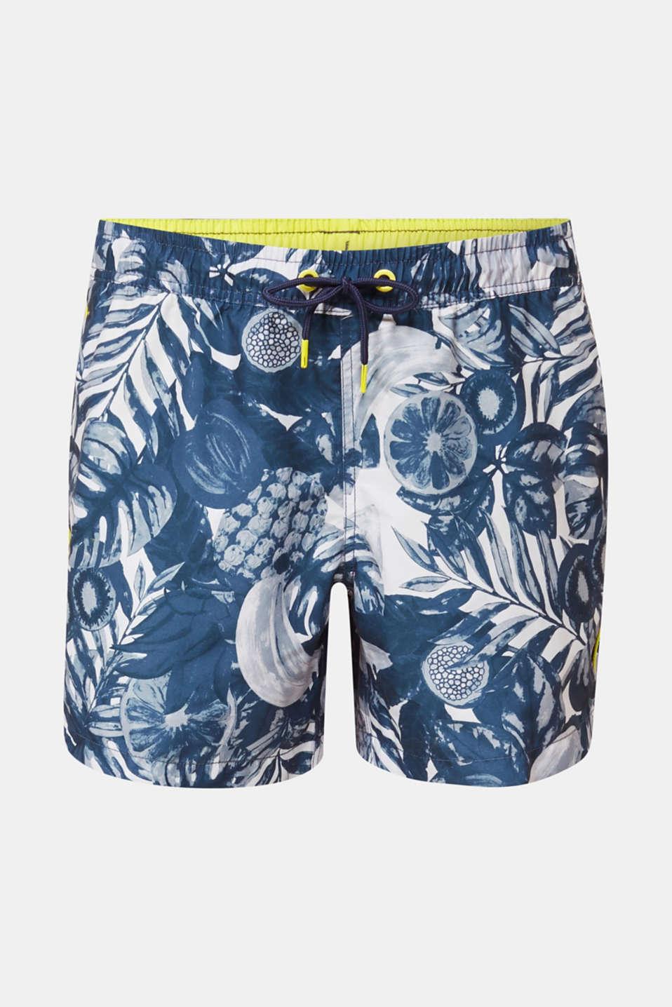 Fruit print swim shorts, NAVY 2, detail image number 3