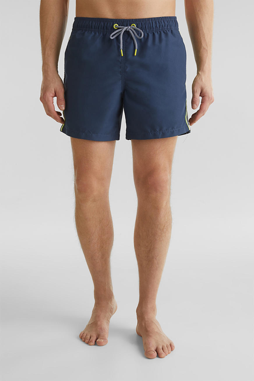 Swim shorts with racing stripes