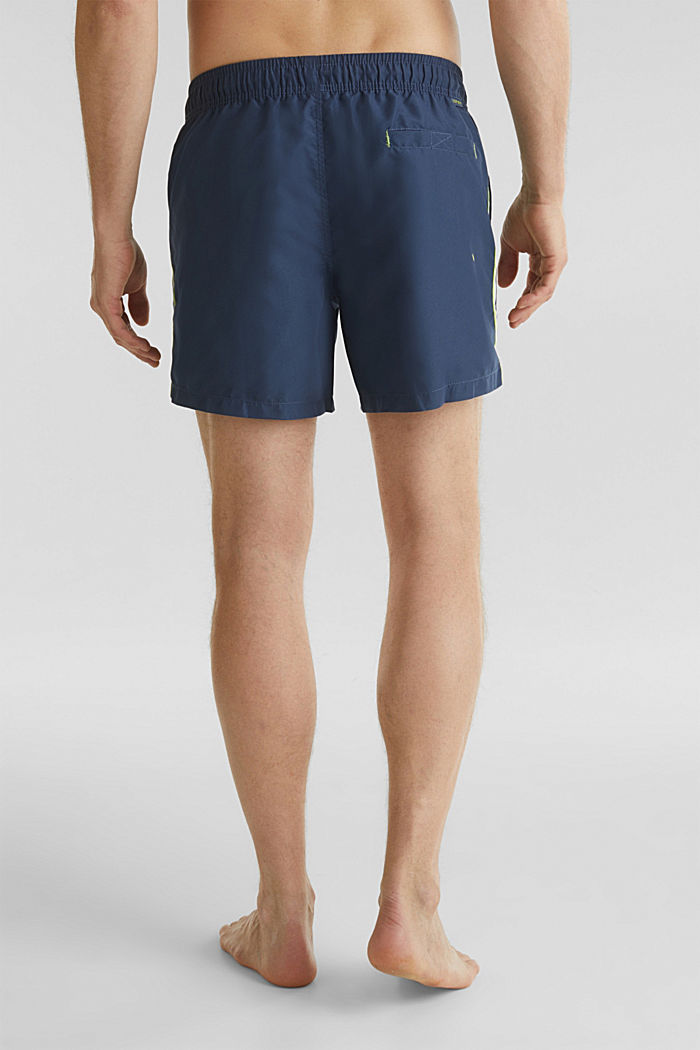 Swim shorts with racing stripes, NAVY, detail image number 1