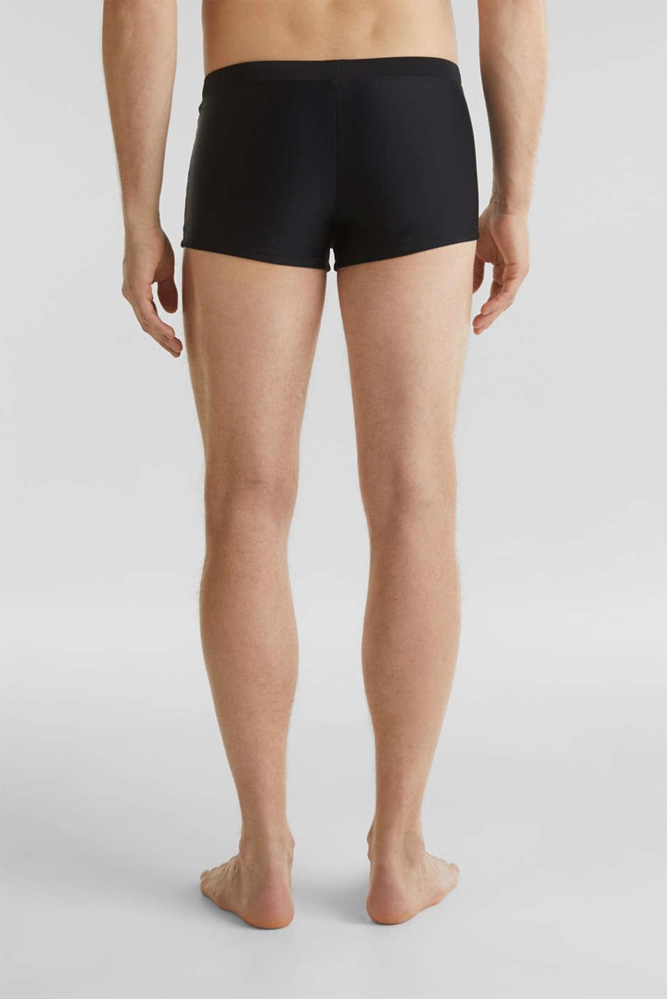 Retro swim shorts with stripes, BLACK, detail image number 1