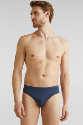 In a triple pack: microfibre briefs, NAVY 2, detail