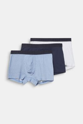 In a triple pack: stretch jersey shorts, BRIGHT BLUE, detail