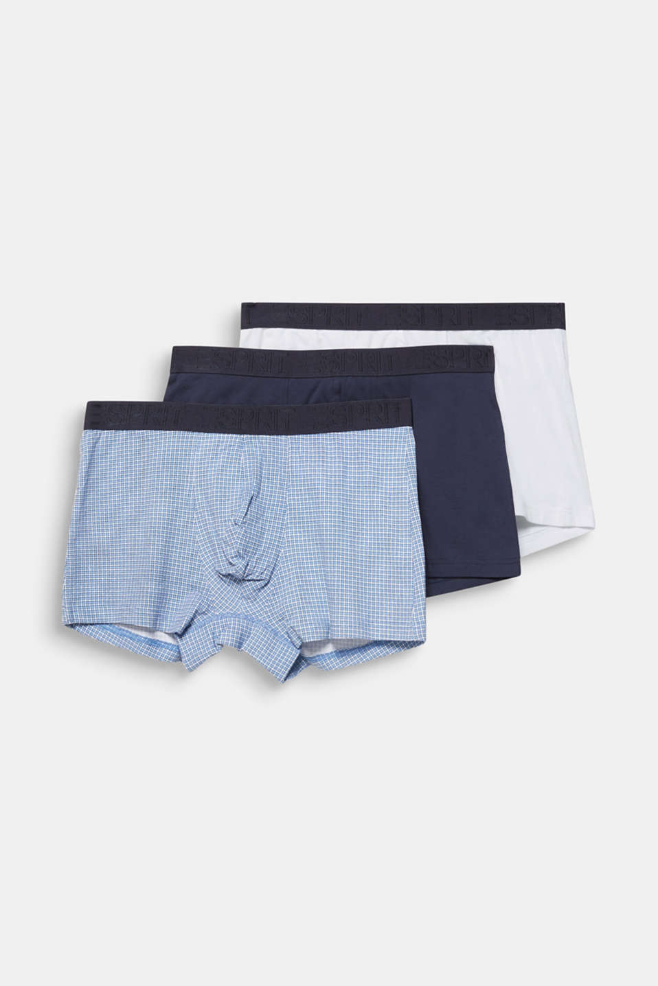 In a triple pack: stretch jersey shorts, BRIGHT BLUE, detail image number 3