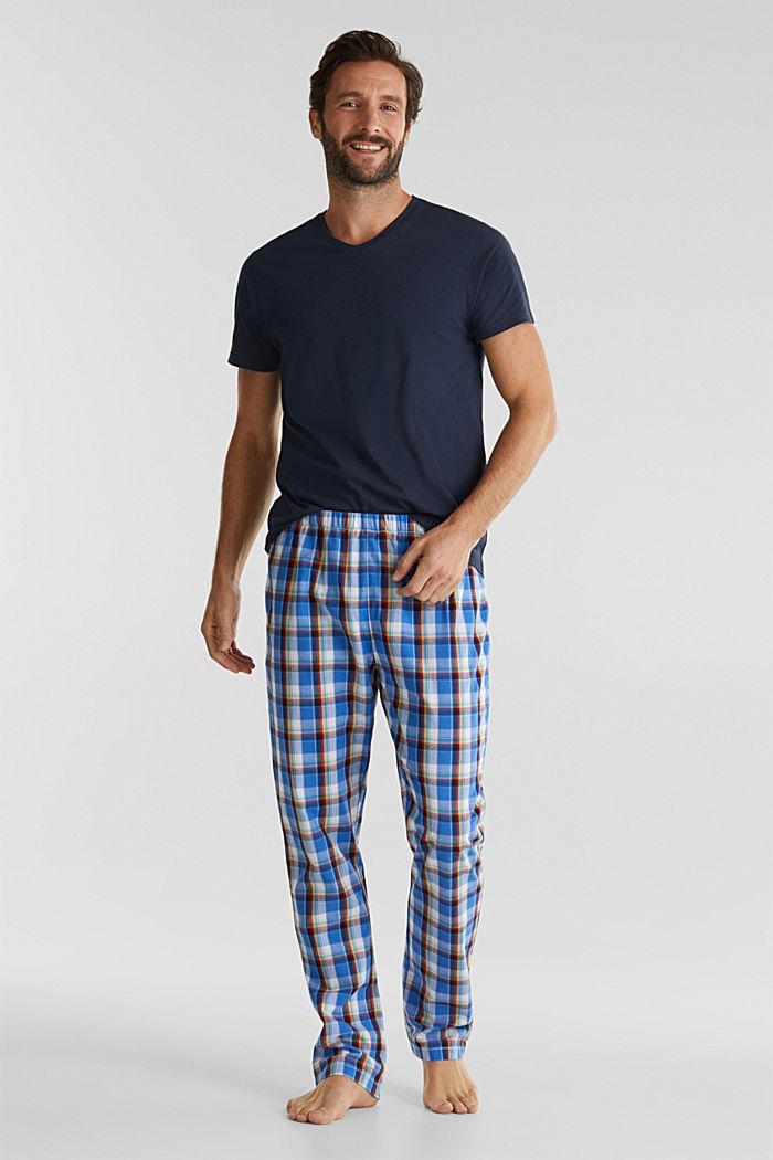 Pyjama aus Jersey und Stoff, NAVY, detail image number 0