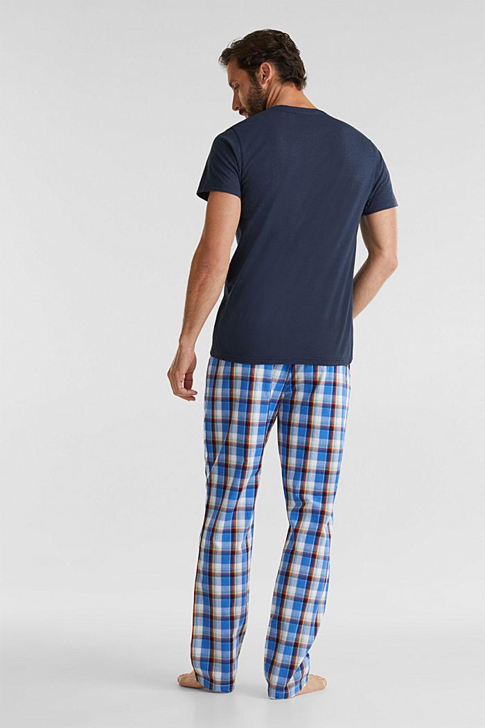 Pyjama aus Jersey und Stoff, NAVY, detail image number 1