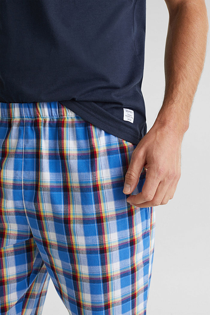 Pyjama aus Jersey und Stoff, NAVY, detail image number 2