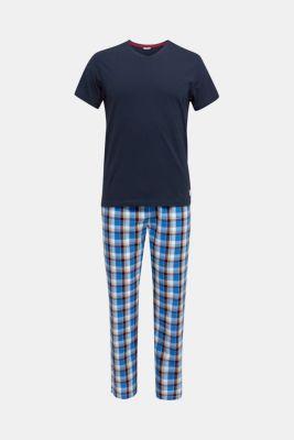 Jersey and fabric pyjamas, NAVY 2, detail