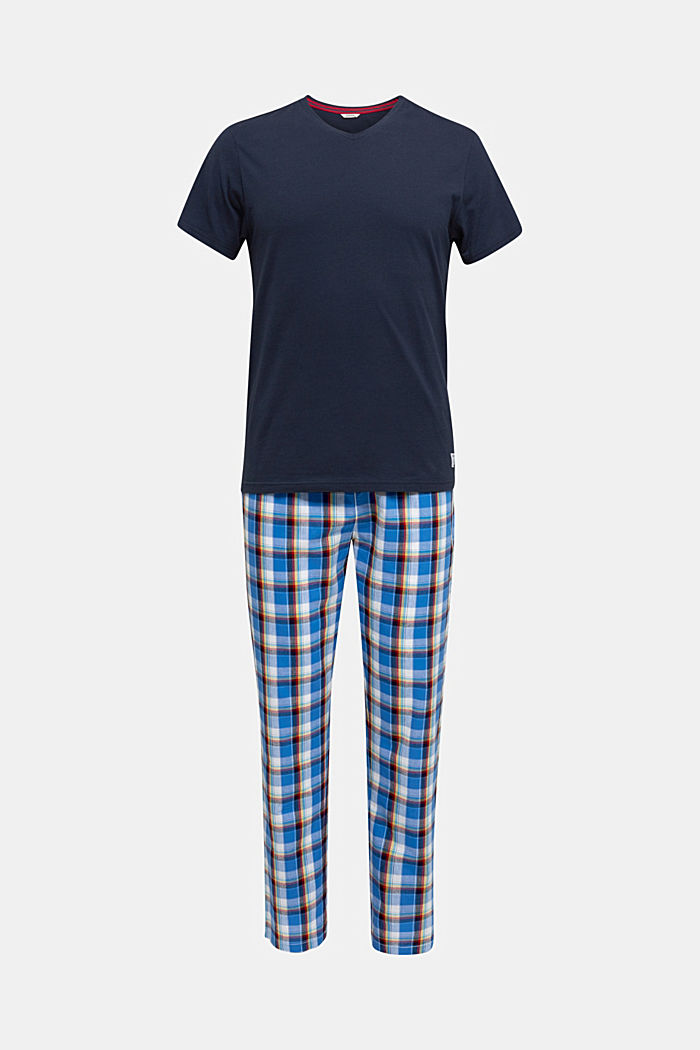 Pyjama aus Jersey und Stoff, NAVY, detail image number 3