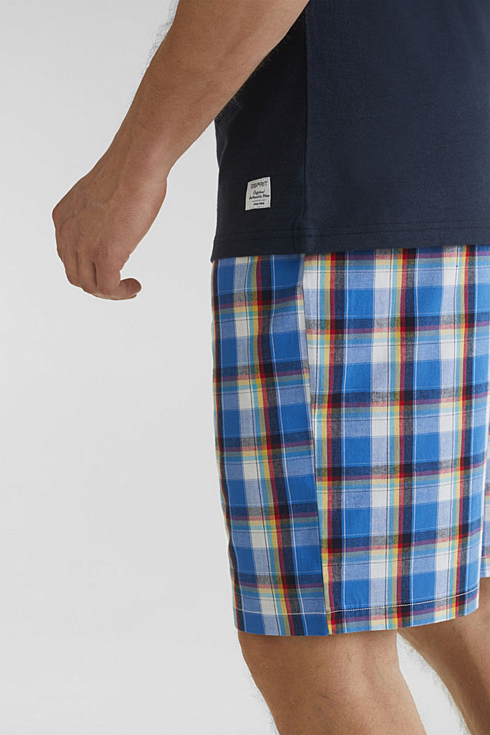 Check Bermudas made of 100% cotton, BRIGHT BLUE, detail image number 2
