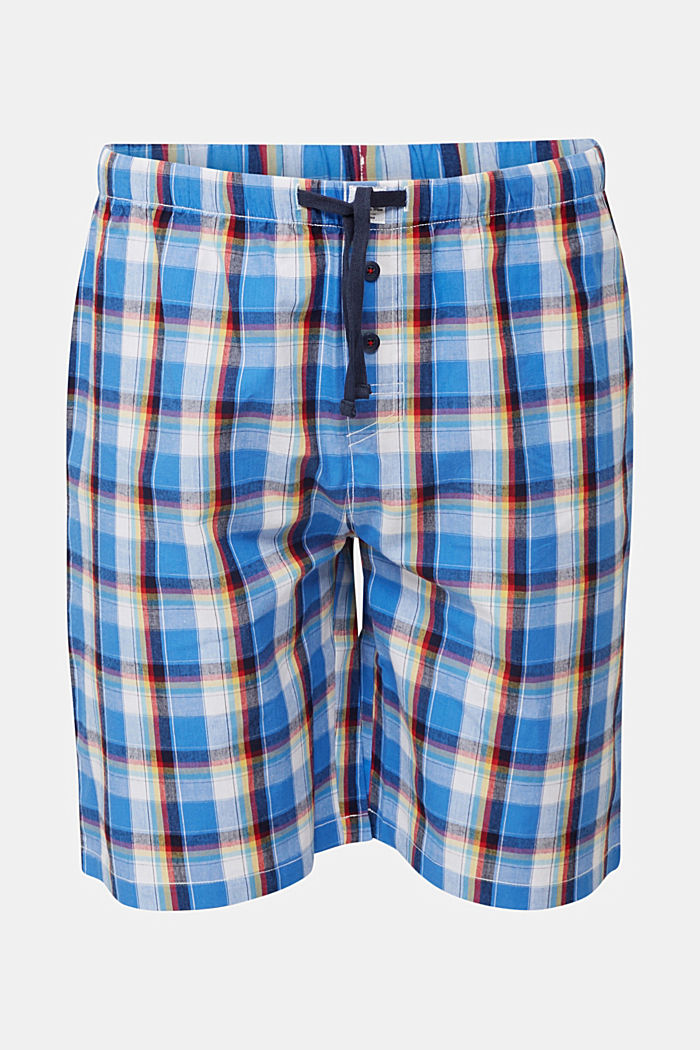 Check Bermudas made of 100% cotton, BRIGHT BLUE, detail image number 3